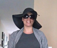 About to hit the town 11 days after surgery. Thanks to LB for the hat and sunglasses!