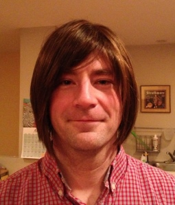 My husband with his new 'do.